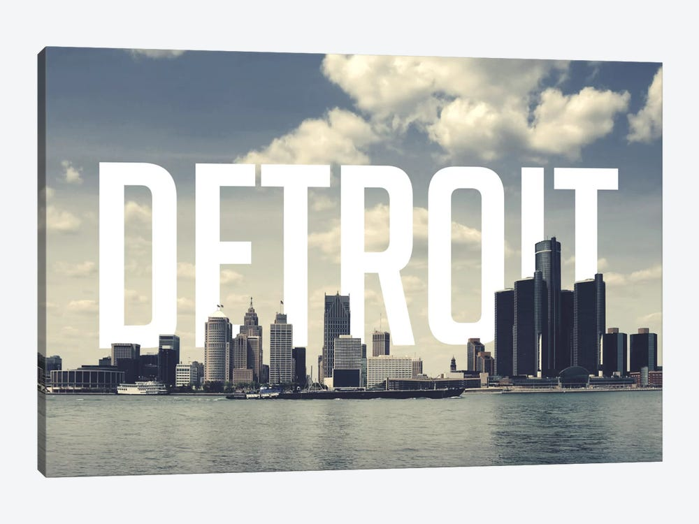 Detroit by 5by5collective 1-piece Canvas Artwork