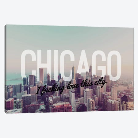 Chicago Love Canvas Print #CLV1} by 5by5collective Canvas Wall Art