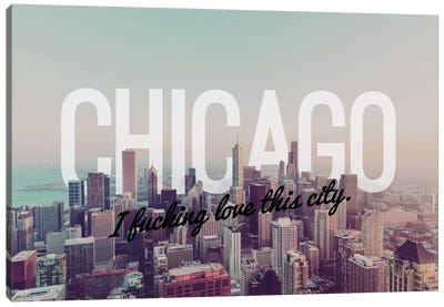 Chicago Love Canvas Art Print