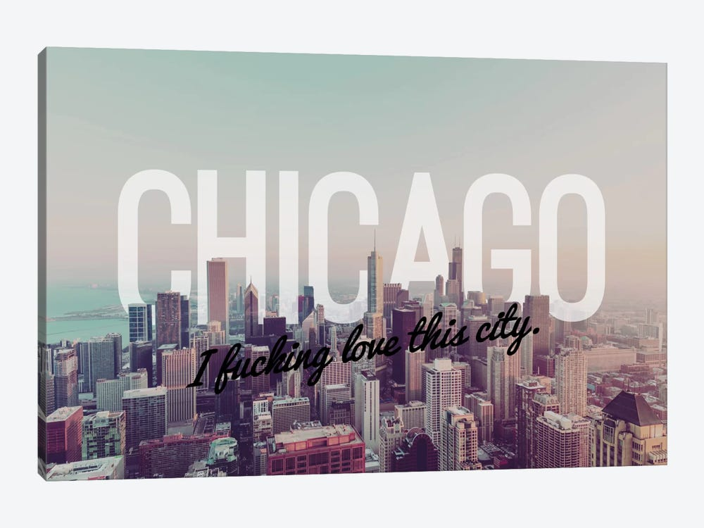 Chicago Love by 5by5collective 1-piece Canvas Artwork