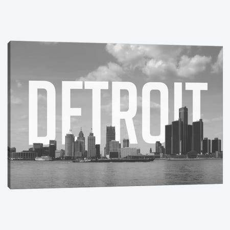 B/W Detroit Canvas Print #CLV20} by 5by5collective Canvas Art Print