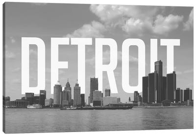 B/W Detroit Canvas Art Print