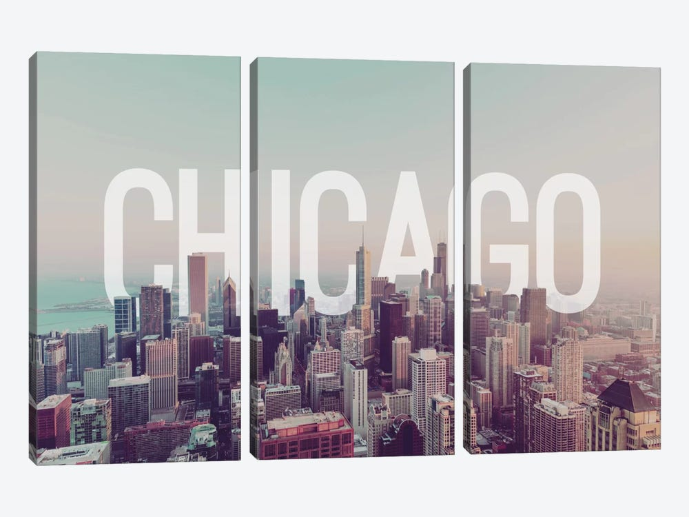 Chicago by 5by5collective 3-piece Canvas Art Print