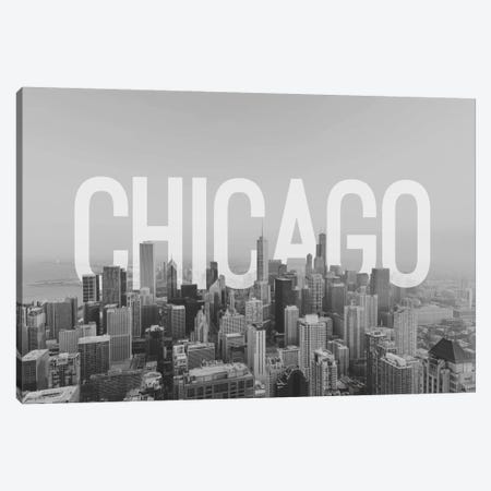 B/W Chicago Canvas Print #CLV4} by 5by5collective Canvas Art Print