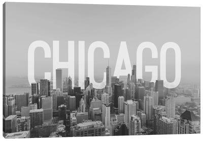 B/W Chicago Canvas Art Print