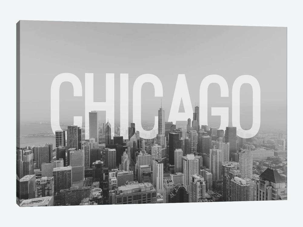 B/W Chicago by 5by5collective 1-piece Canvas Print