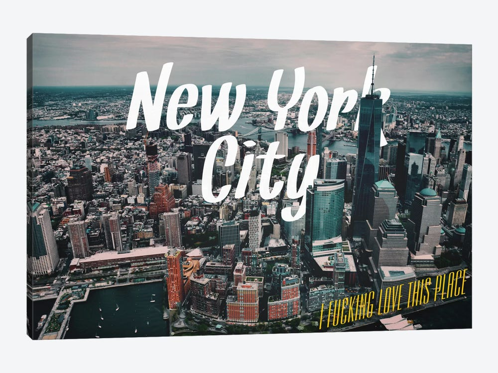 New York Love by 5by5collective 1-piece Canvas Wall Art
