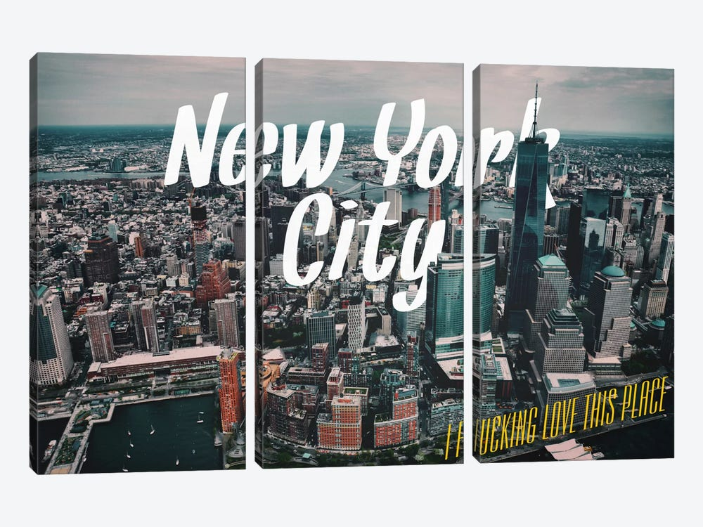 New York Love by 5by5collective 3-piece Canvas Wall Art