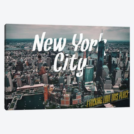 New York Love Canvas Print #CLV5} by 5by5collective Canvas Print