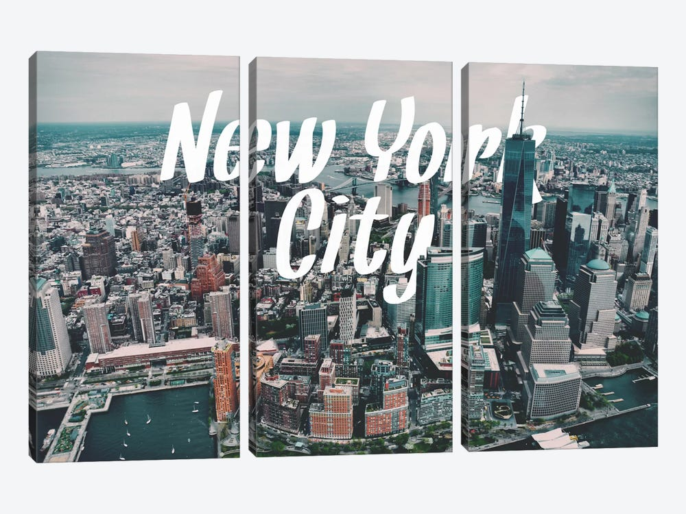 New York by 5by5collective 3-piece Canvas Art Print