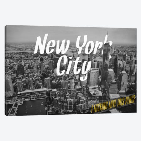 B/W New York Love Canvas Print #CLV7} by 5by5collective Canvas Print