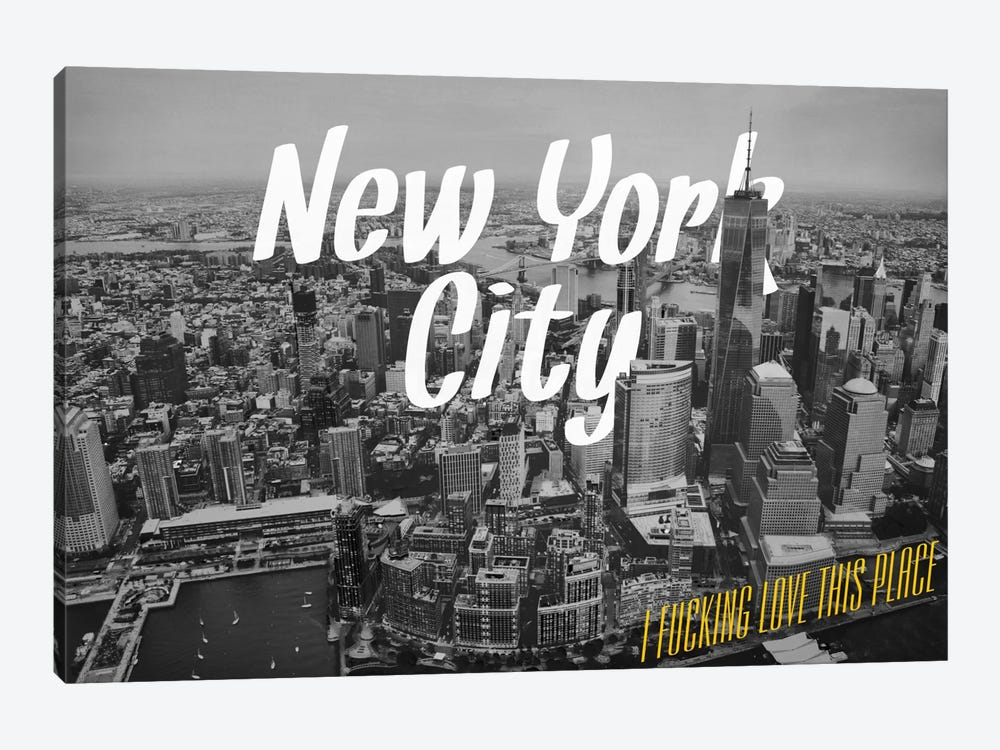 B/W New York Love by 5by5collective 1-piece Canvas Artwork