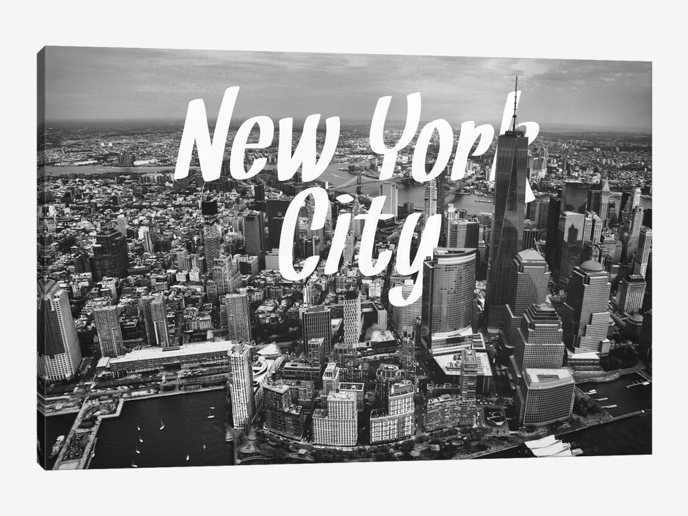 B/W New York by 5by5collective 1-piece Canvas Art Print