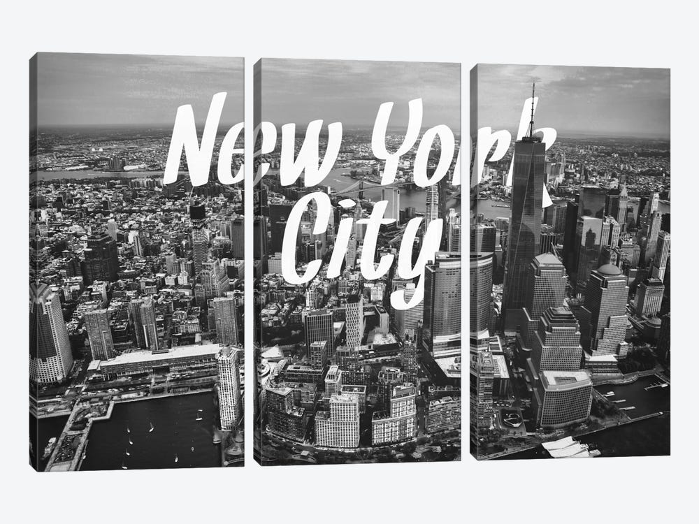 B/W New York by 5by5collective 3-piece Art Print