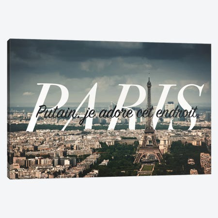 Paris Love Canvas Print #CLV9} by 5by5collective Canvas Wall Art
