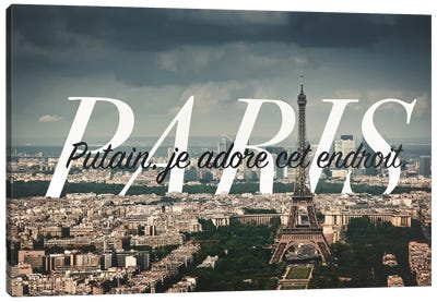 Paris Love Canvas Art Print