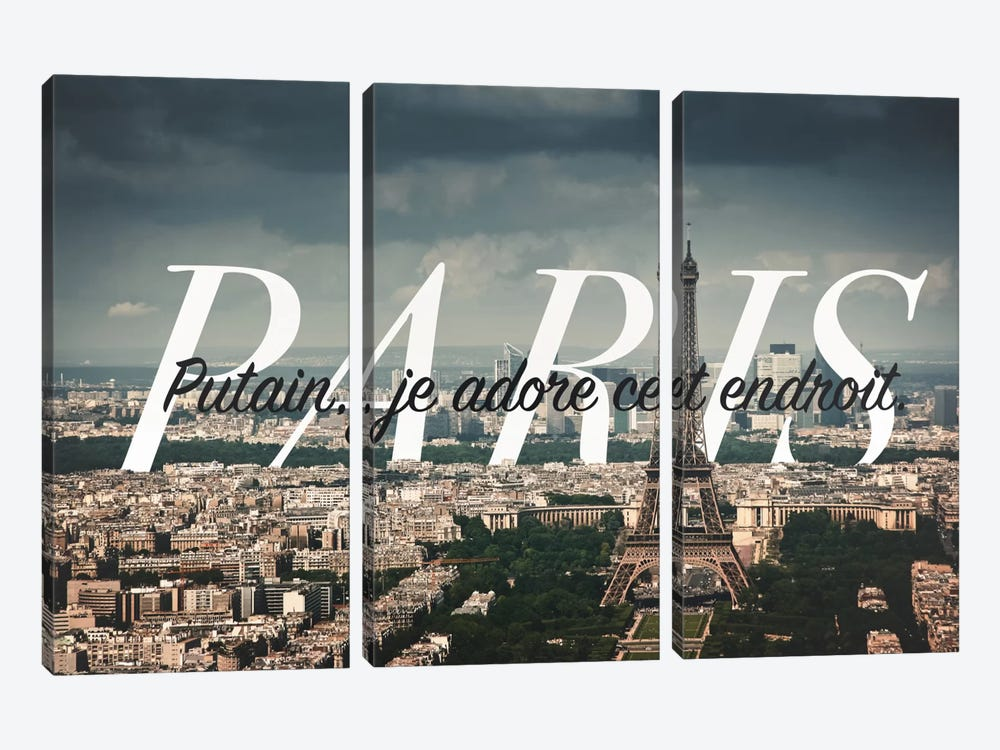 Paris Love 3-piece Canvas Wall Art