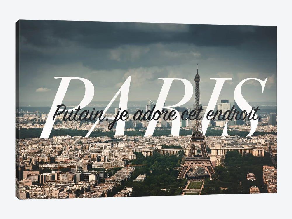 Paris Love by 5by5collective 1-piece Canvas Art
