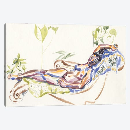 Chaise Canvas Print #CLW13} by Claire Wilson Art Print
