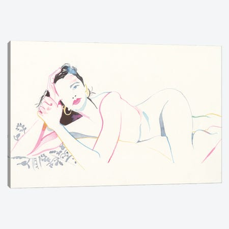 Gaze Canvas Print #CLW7} by Claire Wilson Canvas Artwork