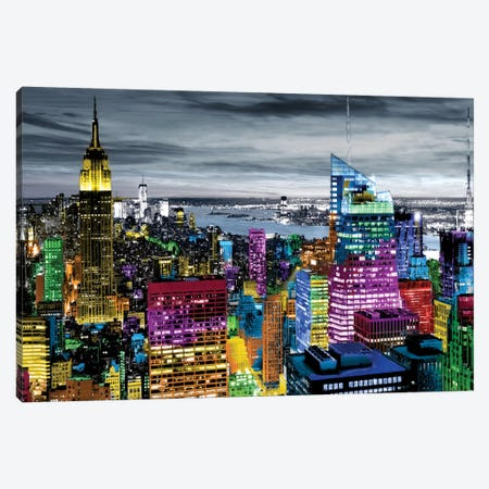 NYC In Living Color I Canvas Print #CLY1} by Carly Ames Art Print