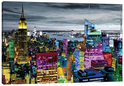 NYC In Living Color I Canvas Print #CLY1
