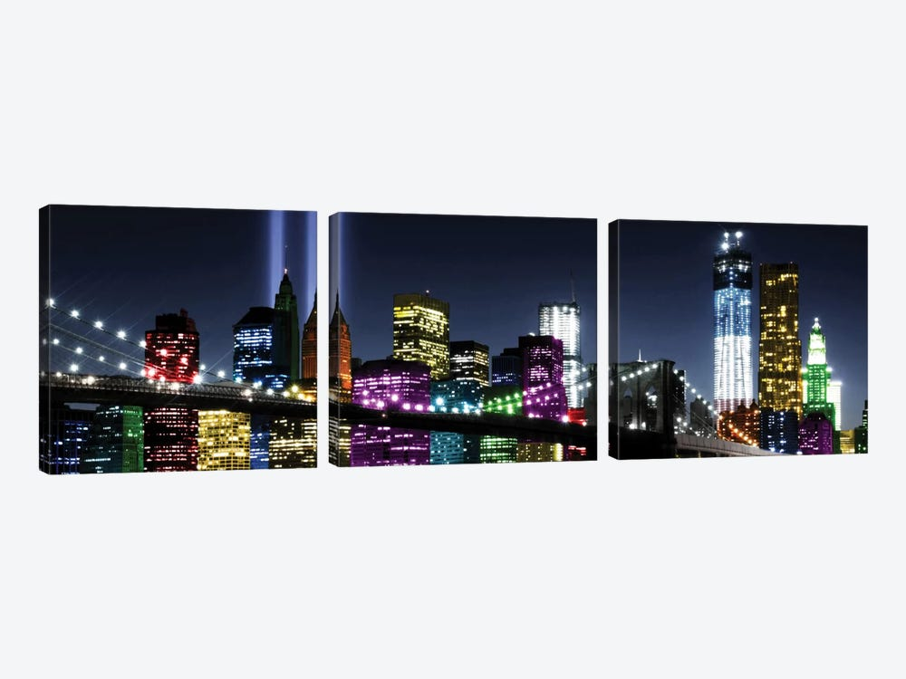 NYC In Living Color II by Carly Ames 3-piece Canvas Art