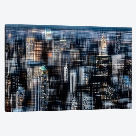 Downtown At Night Canvas Print #CMA2} by Hannes Cmarits Art Print