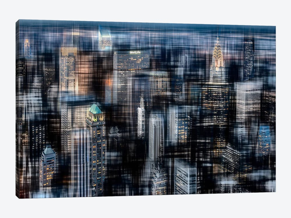 Downtown At Night by Hannes Cmarits 1-piece Art Print