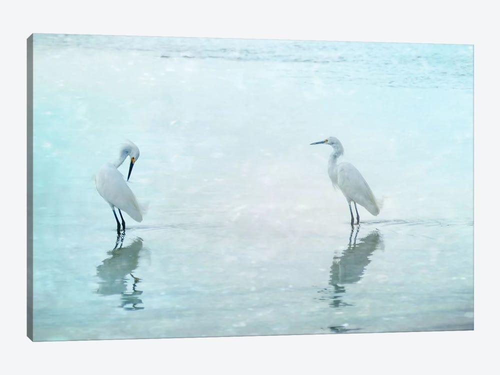 White Cranes by Hannes Cmarits 1-piece Canvas Print