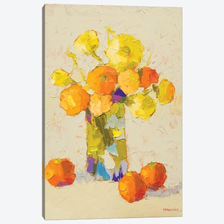 Yellows And Oranges Canvas Print #CMG4} by Carol Maguire Canvas Art
