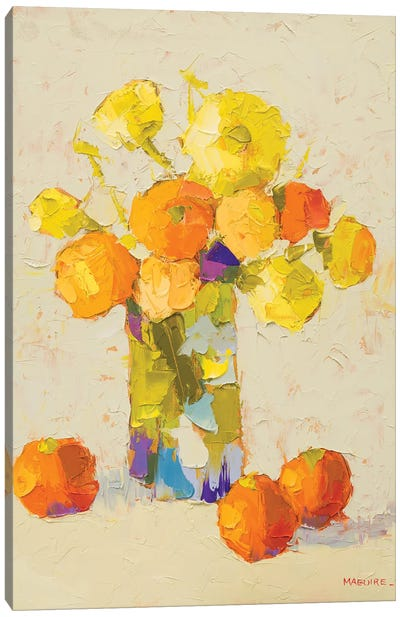 Yellows And Oranges Canvas Art Print