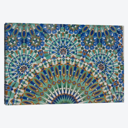 Close-Up Of A Decorative Mosaic I, Hassan II Mosque, Casablanca, Morocco Canvas Print #CMH1} by Cindy Miller Hopkins Canvas Art
