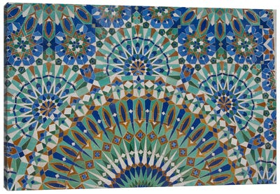 Close-Up Of A Decorative Mosaic I, Hassan II Mosque, Casablanca, Morocco Canvas Art Print
