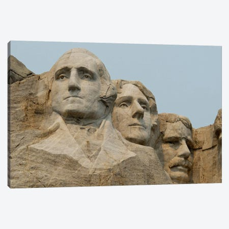Washington, Jefferson And Roosevelt In Zoom, Mount Rushmore National Memorial, Pennington County, South Dakota, USA Canvas Print #CMH4} by Cindy Miller Hopkins Canvas Print