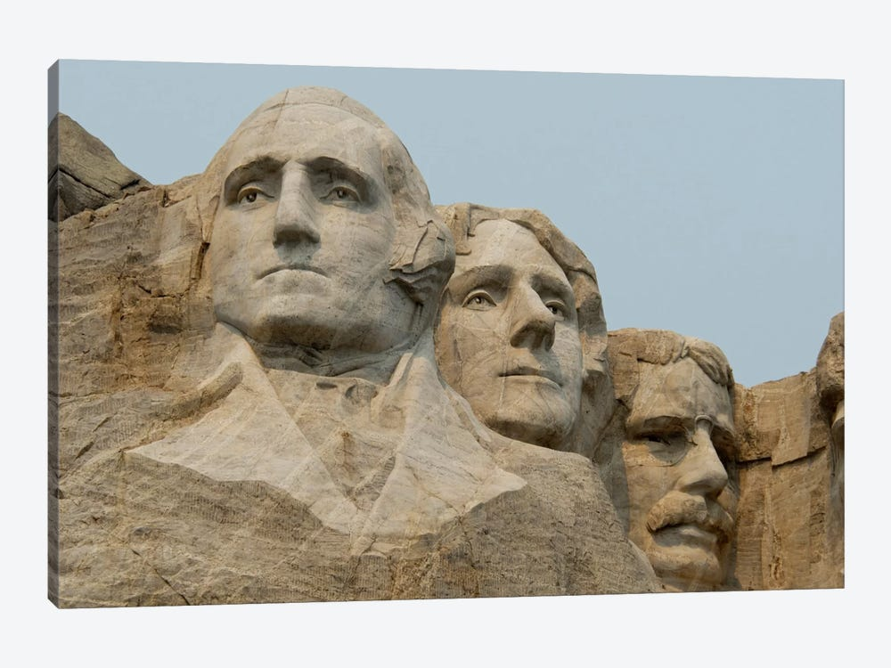 Washington, Jefferson And Roosevelt In Zoom, Mount Rushmore National Memorial, Pennington County, South Dakota, USA by Cindy Miller Hopkins 1-piece Canvas Artwork