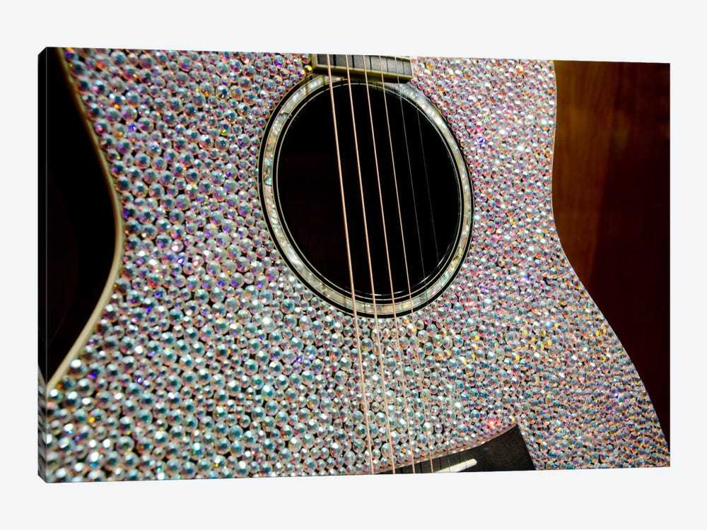Taylor Swift's Bejeweled Guitar In Zoom, Country Music Hall Of Fame, Nashville, Tennessee, USA by Cindy Miller Hopkins 1-piece Art Print