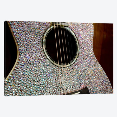Taylor Swift's Bejeweled Guitar In Zoom, Country Music Hall Of Fame, Nashville, Tennessee, USA Canvas Print #CMH5} by Cindy Miller Hopkins Canvas Art Print