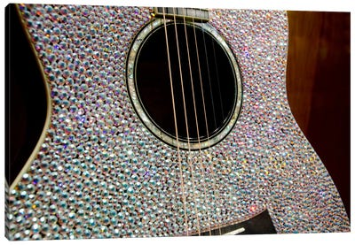 Taylor Swift's Bejeweled Guitar In Zoom, Country Music Hall Of Fame, Nashville, Tennessee, USA Canvas Art Print