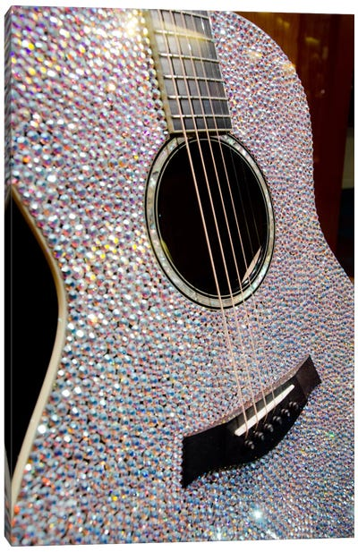 Taylor Swift's Bejeweled Guitar, Country Music Hall Of Fame, Nashville, Tennessee, USA Canvas Art Print