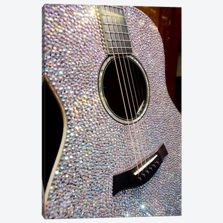Taylor Swift's Bejeweled Guitar, Country Music Hall Of Fame, Nashville, Tennessee, USA Canvas Print #CMH6} by Cindy Miller Hopkins Canvas Art Print