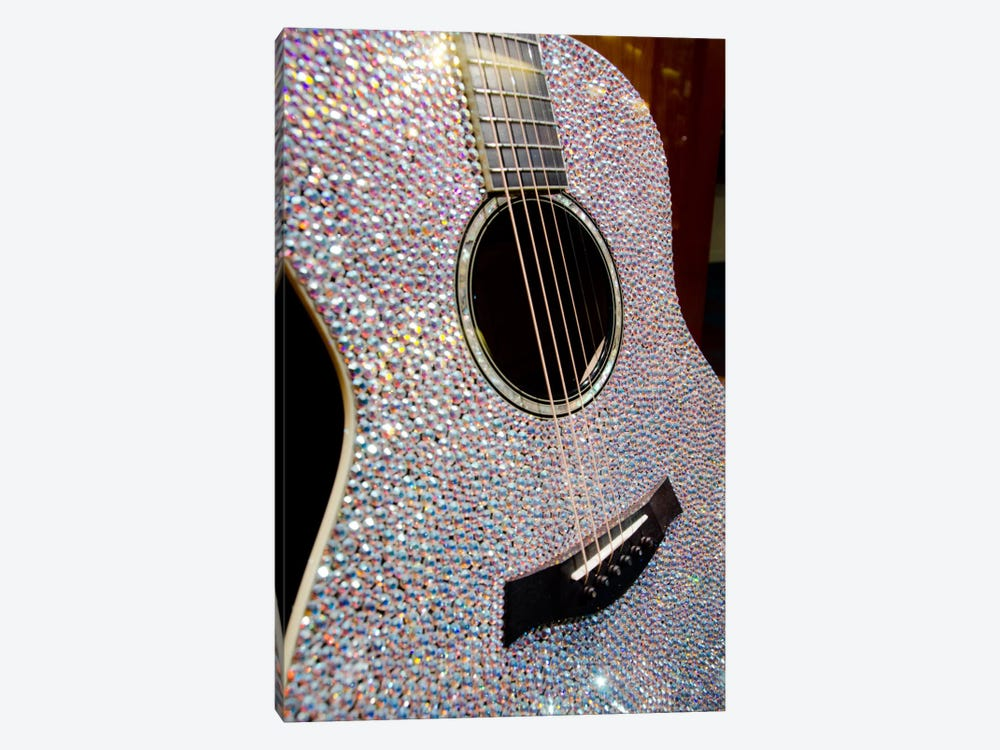 Taylor Swift's Bejeweled Guitar, Country Music Hall Of Fame, Nashville, Tennessee, USA by Cindy Miller Hopkins 1-piece Canvas Art