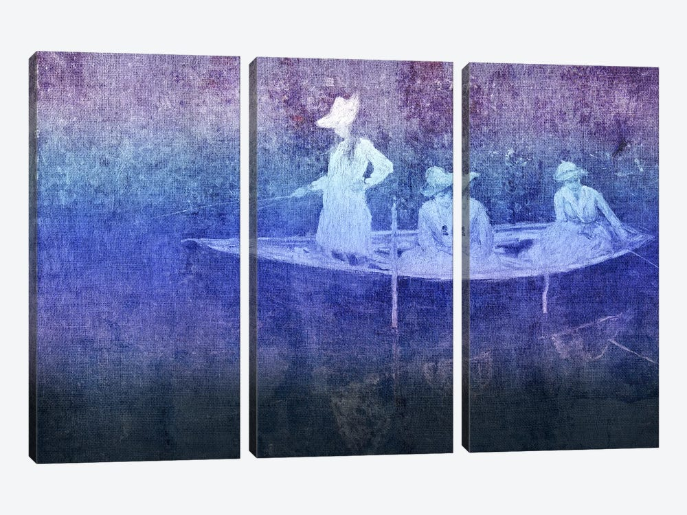 La Barque VI by 5by5collective 3-piece Canvas Print