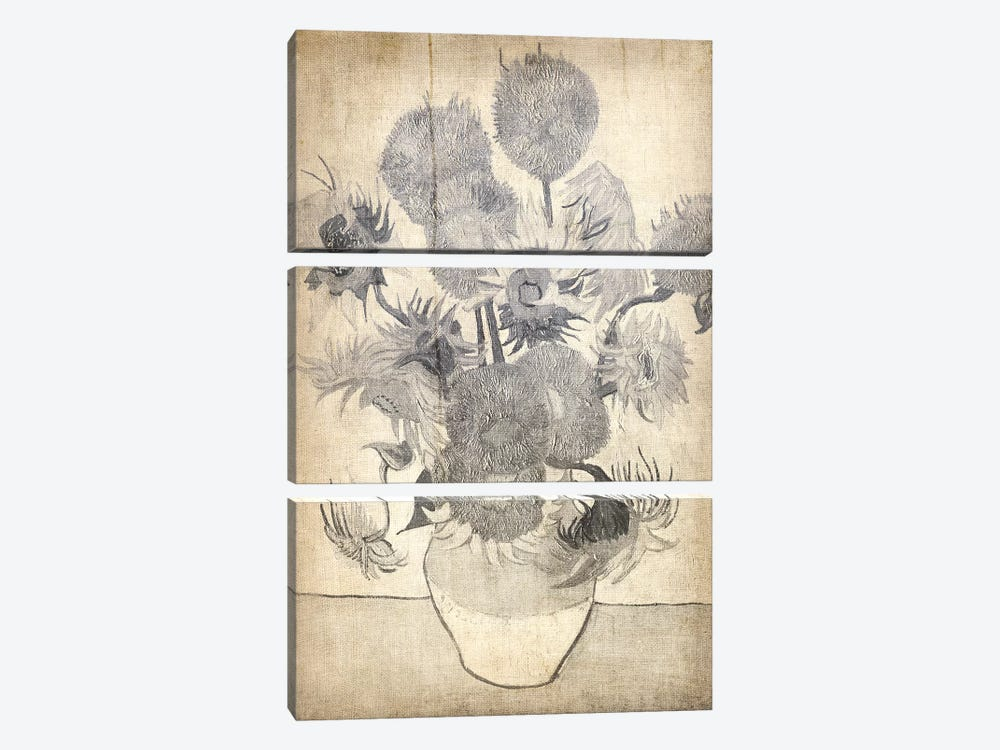 Sunflowers X by 5by5collective 3-piece Canvas Art Print