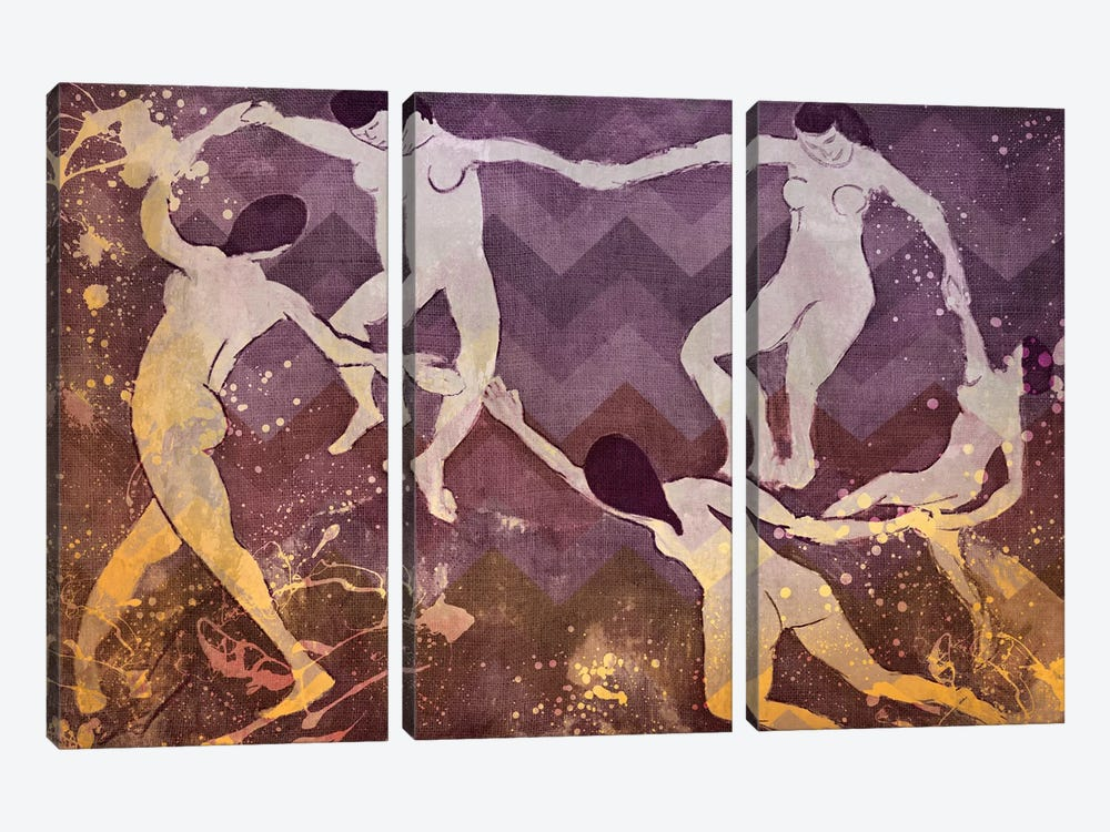 Dance IV by 5by5collective 3-piece Canvas Art