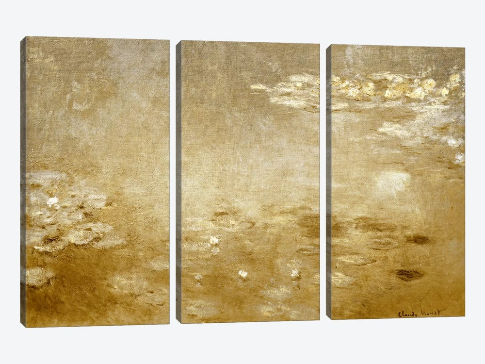 Waterlilies I by 5by5collective 3-piece Canvas Wall Art