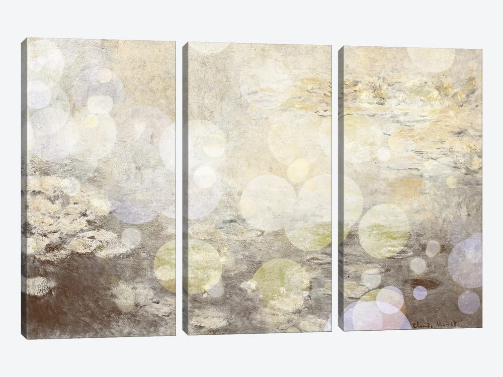Waterlilies III by 5by5collective 3-piece Canvas Art Print