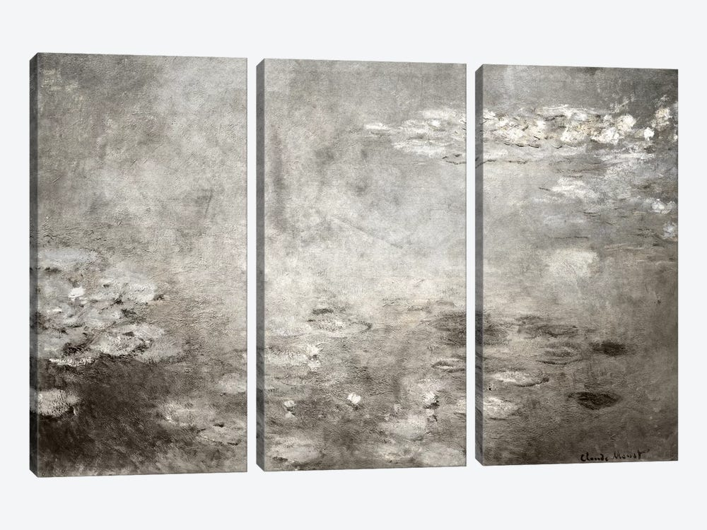 Waterlilies IV by 5by5collective 3-piece Canvas Art