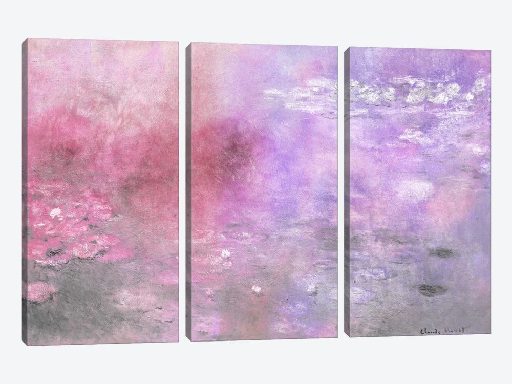Waterlilies V by 5by5collective 3-piece Art Print