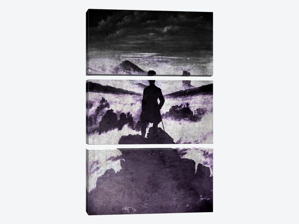Wanderer above the Sea of Fog I by 5by5collective 3-piece Art Print